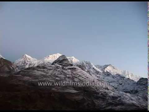 Pre-dawn light over Kangchenjunga, as seen from Dzongri in Sikkim