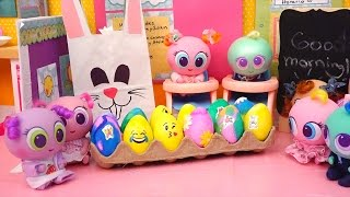 Coloring Eggs & Easter Egg Hunt ! Toys and Dolls Fun for Kids Playing at Nerlie Preschool | SWTAD