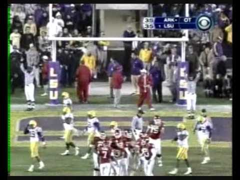 2007 Arkansas @ #1 LSU Hog TDs conversions final interception
