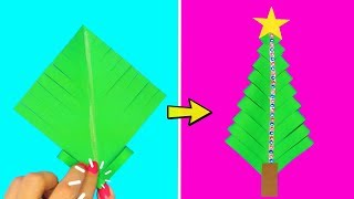 Paper Christmas Tree | Christmas Decoration Ideas With Paper | Christmas Craft Ideas