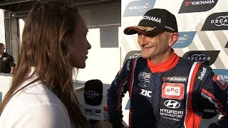 Gabriele Tarquini wins Race 3 in Marrakech - to make it two from the weekend.