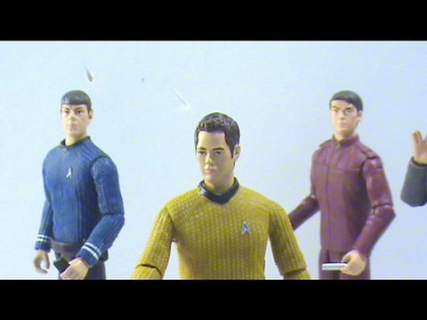 Video review of the new 2009 Star Trek Movie toy; Kirk
