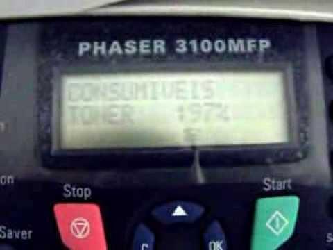 RESET  -CHIP XEROX PHASER 3100 MFP FIRMWARE V2.07t E V2.07m.MP4