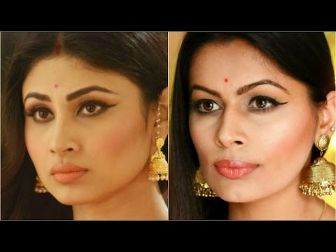 Mouni Roy (Shivanya) Naagin Inspired Look | Indian Makeup Guru | Kavya K