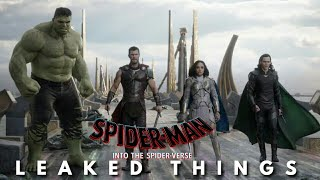 THOR RAGNAROK|SPIDERMAN INTO THE SPIDER-VERSE STYLE|LEAKED THINGS