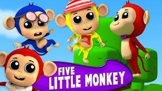 năm con khỉ nhỏ | vần tiếng việt | Five Little Monkeys | Farmees Vietnam | nhac thieu nhi hay nhất