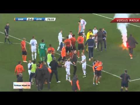 Драка в матче Шахтер-Динамо! Неспортивное поведение игроков Динамо.
