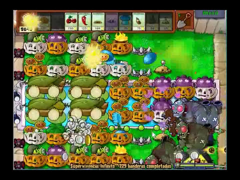Plantas vs Zombies supervivencia infinito 230 sin hack.flv