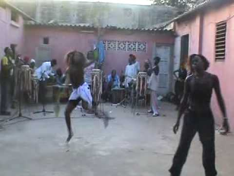 CULTURE 4: SENEGAL: sabar drum and dance rehearsal of M`Baye M`Boup`s group in Dakar.