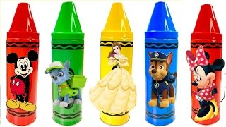 Best Learning Colors Video for Children  - Paw Patrol Mickey Mouse Belle Crayons