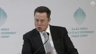 """Elon Musk answers """"Where are the Aliens?"""" in Dubai at the World Gov Summit (2017-02-15)"""