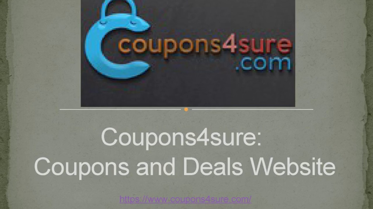 Coupons4sure Coupons and Deals Website