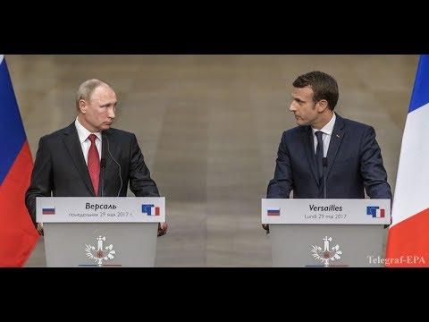 Путин не ожидал такого Макрон назвал российские СМИ лживой пропагандой