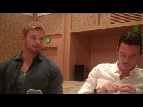 Kellan Lutz And Luke Evans At Immortals Interview