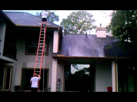 Roof, cleaning, low, pressure, roof, clean