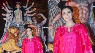 Kajol At North Mumbai Durga Puja Pandal 2016
