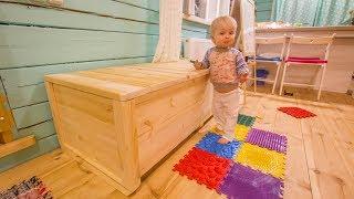 Большой деревянный ящик для хранения чего-нибудь (сундук)