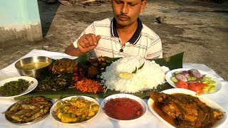 It's a Record Eating Show - 12 items with Rice - Indian Food Eating Show
