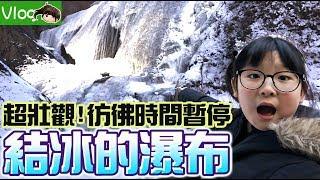 【Vlog】時間停止了?結冰的瀑布!Ryu和Yuma帶我去看茨城超壯觀的袋田瀑布[NyoNyoTV妞妞TV玩具]