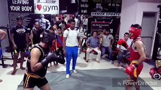 State wushu salection fight 60 kg 90, 95kg sakta fight Pali Rajasthan