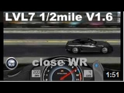 Drag Racing level 7 Ferrari Novitec Rosso 599 GTB 1/2 mile tune V1.6