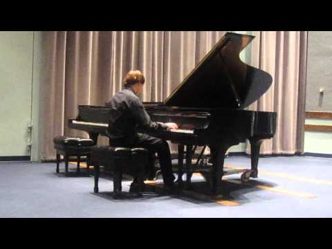 Robert is playing Berceuse op.13 by A. Iljinsky at YSU