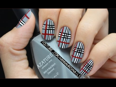 Plaid Nail Art for Girls' Life Magazine