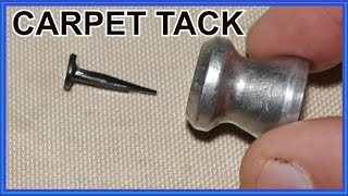 Can a CARPET TACK  Go Thru ARMOR?  (Urban Myth)