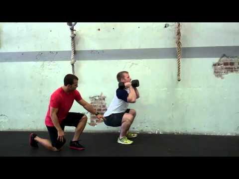 Dumbbell Front Squat Exercise Demonstration Image 1