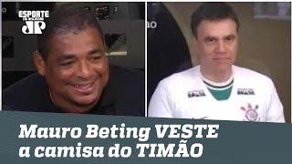 Vampeta ganha aposta, e Mauro Beting veste camisa do Corinthians AO VIVO!