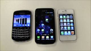 Blackberry vs iPhone vs Android - FACE OFF!!!