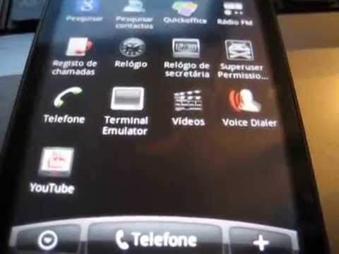 HTC HD Mini running android 2.2