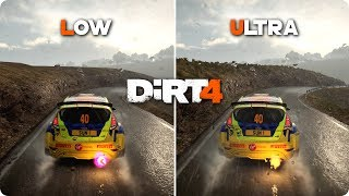 PC Graphics Comparison - DiRT 4 - Low vs Ultra Settings