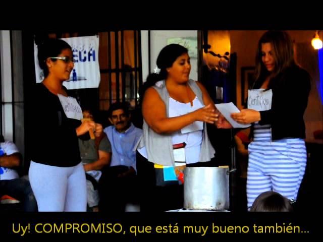 #CONBECA Colación de Egresados 2014, Acto Las Lajitas