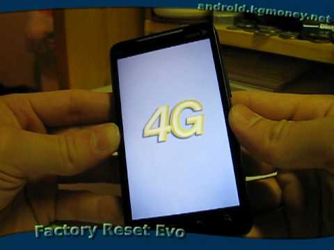 Factory Reset HTC Evo 4G