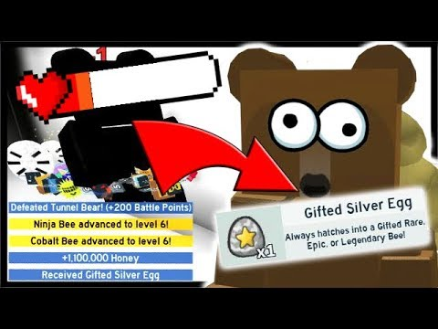 *HOW TO* DEFEAT TUNNEL BEAR & GIFTED EGG REWARD!!   Roblox Bee Swarm Simulator