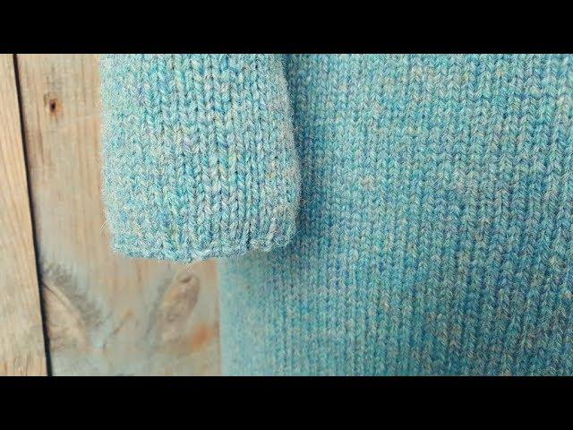 Платье спицами. 3-я часть. Подрезы. Рукава. Закрытие.