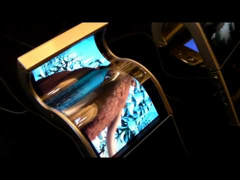 Samsung Flexible Display Demo at CES 2011