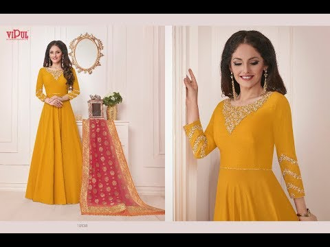 Beautiful banarasi suit material design/buy brocade salwar suit/banarasi suit with dupatta