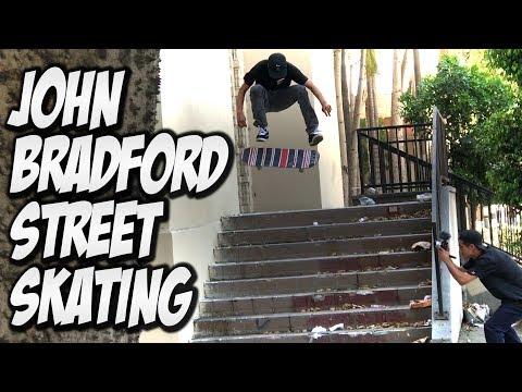 STREET SKATING WITH JOHN BRADFORD !!!