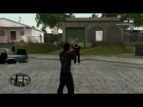 HUD and weapons from GTA IV