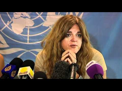 UNMISS - SRSG Hilde Johnson talks to the Press on the Bentiu Bombings