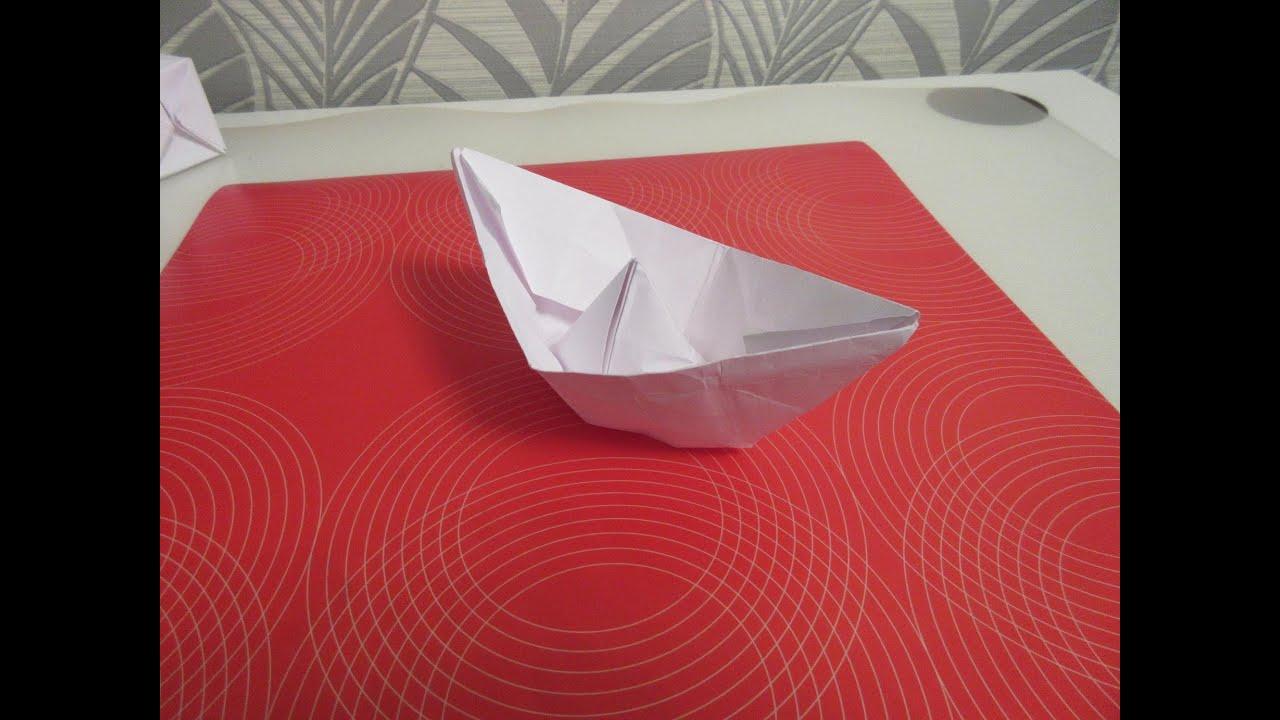 Кораблик своими руками из бумаги фото