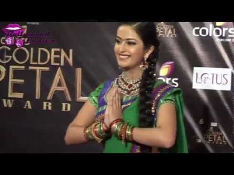 Balika Vadhu star Avika Gor in Saree at Colors Golden Petal...
