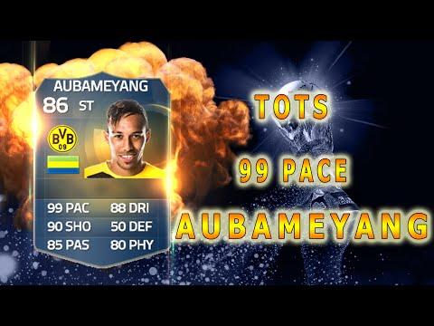 เร็วกว่านี้ไม่มีแล้วในเกมฟีฟ่า 15 TOTS Aubameyang Review - FIFA 15 Ultimate Team