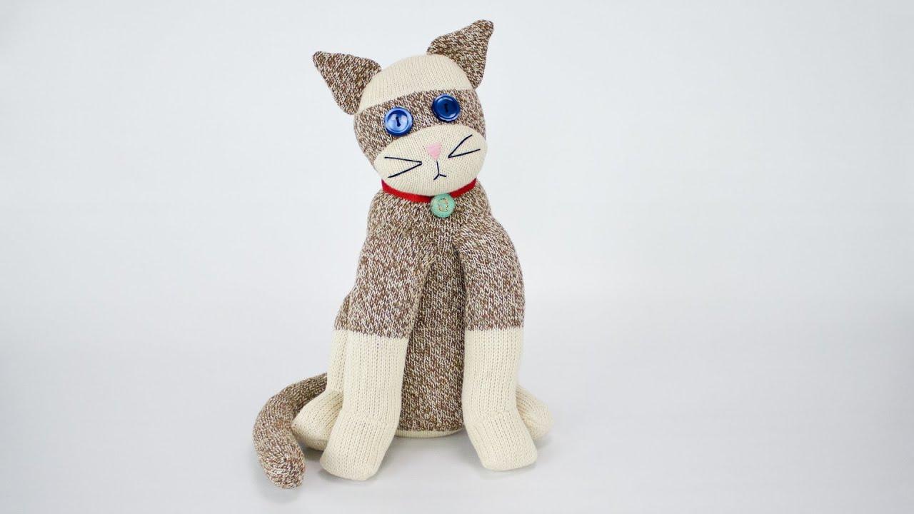 diy cat sock how to sew a sock cat
