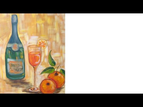 Easy Acrylic Painting Ideas | Wine and Glass Class| The Art Sherpa