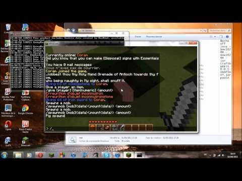 Comment installer le plugin Essentials et faire des commandes d'Admin Minecraft