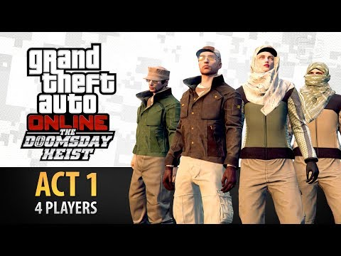 GTA Online: Doomsday Heist Act #1 with 4 Players (Elite & Criminal Mastermind IV)