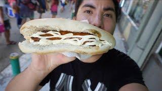 Comida CALLEJERA en CHILE